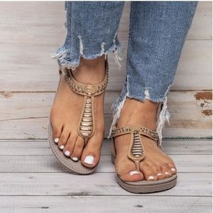 Glam Girl Fashion Shoes - NWT BEST SELLING Tan Gladiator Sandal